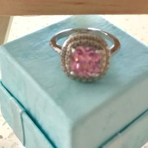 Jewelry - Pink sapphire set in sterling silver stamped